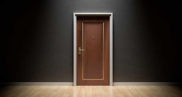door a physical barrier