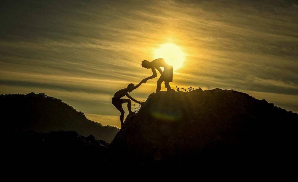 Helping man