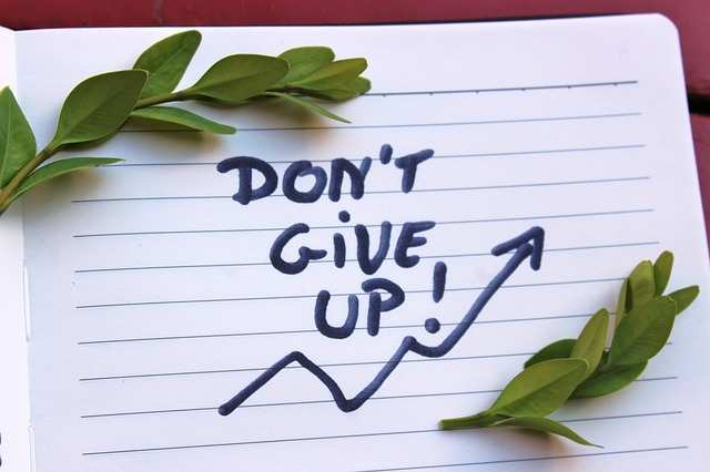 don't give up for success in life